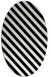 rug #488249 | oval white stripes rug