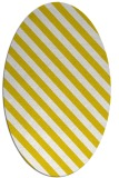 rug #488277 | oval white stripes rug