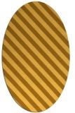 rug #488281 | oval light-orange stripes rug