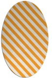 rug #488325 | oval white stripes rug