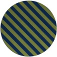 rug #488717 | round green stripes rug