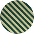 rug #488885   round yellow stripes rug