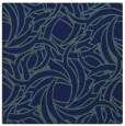 rug #491177 | square blue-green abstract rug
