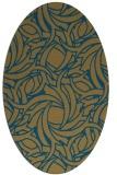 rug #491520   oval abstract rug
