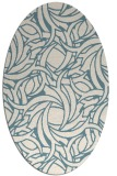 rug #491521 | oval blue-green abstract rug