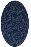 rug #491529 | oval blue abstract rug