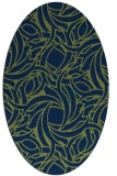 rug #491533 | oval green popular rug