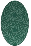 rug #491553   oval blue-green abstract rug