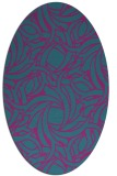 rug #491561 | oval blue-green abstract rug