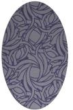 rug #491585 | oval blue-violet rug