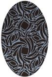 rug #491611 | oval abstract rug