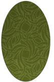 rug #491621 | oval green abstract rug