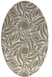 rug #491637 | oval white abstract rug