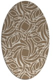 rug #491649 | oval beige abstract rug