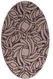 rug #491653   oval pink abstract rug