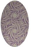 rug #491677 | oval purple abstract rug