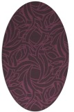 rug #491721   oval purple natural rug