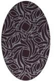 rug #491733 | oval purple abstract rug