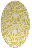 rug #491773   oval white abstract rug