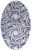 rug #491777 | oval white abstract rug