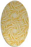 rug #491785 | oval yellow natural rug