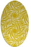 rug #491797 | oval yellow natural rug