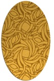 rug #491801 | oval light-orange abstract rug