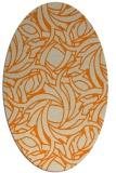 rug #491813   oval orange popular rug