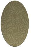 rug #491821 | oval light-green rug