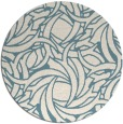 rug #492225 | round blue-green abstract rug