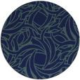 rug #492233 | round blue-green popular rug