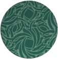 rug #492257 | round blue-green abstract rug