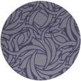 rug #492289   round blue-violet rug