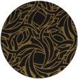 rug #492317 | round black natural rug