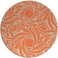rug #492397 | round orange abstract rug
