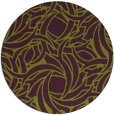 rug #492429 | round green abstract rug