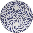 rug #492481 | round blue abstract rug