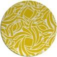 rug #492501 | round yellow popular rug