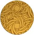 rug #492505 | round light-orange abstract rug