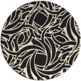 rug #492509 | round black abstract rug