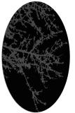 rug #493265 | oval black natural rug