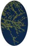rug #493293 | oval blue rug