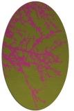 rug #493585 | oval pink natural rug