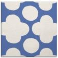 rug #496465 | square blue circles rug