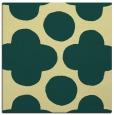 rug #496629 | square yellow circles rug