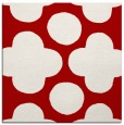 rug #496665 | square red graphic rug