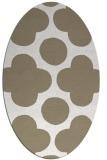 rug #496777 | oval white circles rug