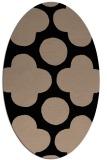 rug #496789 | oval beige graphic rug