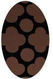 rug #496793   oval black circles rug