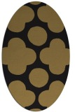 rug #496797   oval black circles rug